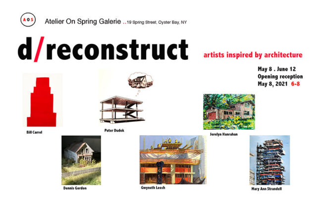d/reconstruct exhibition at Atelier on Spring Galerie, Oyster Bay, NY